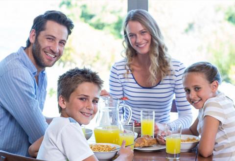 Colazione B&B in vacanza famiglia