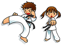 esibizione karate al festival del fitness